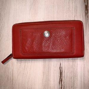 Coral Coach Wallet